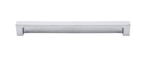 "Top Knobs - Modern Metro Tab Pull 8"" (c-c) - Aluminum - Length - 8 1/2"", Width - 1/2"", Projection - 1"", Center to Center - 8"", Base Diameter - W 1/2"" x L 2 1/2"""