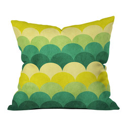 DENY Designs - Arcturus Scales Outdoor Throw Pillow, 18x18x5 - Do you hear that noise? it's your outdoor area begging for a facelift and what better way to turn up the chic than with our outdoor throw pillow collection? Made from water and mildew proof woven polyester, our indoor/outdoor throw pillow is the perfect way to add some vibrance and character to your boring outdoor furniture while giving the rain a run for its money.