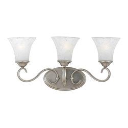 Quoizel Lighting - Quoizel DH8603AN Duchess Antique Nickel 3 Light Vanity - 3, 100W A19 Medium
