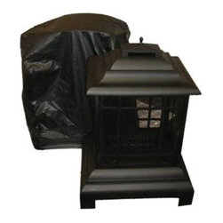 """Outdoor Patio Fireplace Vinyl Cover w/ Felt Lining - 32"""" Square - Our Outdoor Patio Fireplace Vinyl Cover is constructed of heavy 10 gauge, felt lined vinyl. This attractive cover easily slips on and off of your patio fireplace. Protect your fireplace investment against the elements.If this cover doesn't fit your needs check out our other ."""