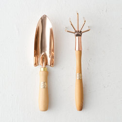PKS Cultivator and Trowel Gift Set - Handmade in Austria by PKS, these copper alloy and beechwood tools will turn your gardening into an art. I'm not sure whether I would use them or frame them!