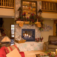 Traditional Living Room by CJ's Home Decor & Fireplaces