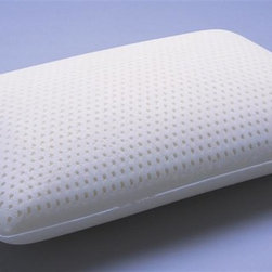 Leggett/Platt Fashion Bed - Latex Pillow (King: 15.5 in. L x 33.5 in. W) - Choose Size: King: 15.5 in. L x 33.5 in. WEnvironmental friendly. Antimicrobial, inhibits growth of bacteria, mold and mildew. Bounces back and never need fluffing. Highly resilient and durable 100% Talalay latex filling. Made from 100% cottonThese pillows will not breakdown and set, unlike fiber and down.