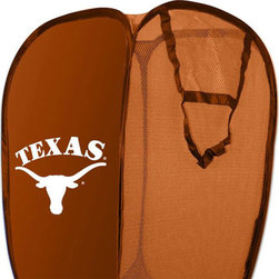 The Northwest Company - NCAA Texas Longhorns Pop-Up Hamper College Storage Basket - FEATURES: