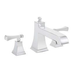 Speakman - Speakman Rainier Collection Roman Tub Faucet in Polished Chrome - Speakman's Rainier two-handle Roman Tub faucet adds a unique square design to complete a bold look in the bathroom. The Rainier chrome faucet prevails a striking masculine update to your traditional styled bathroom faucets. The newest design collection to the Speakman family; the Rainier bathroom faucet collection pairs with the Rainier Showerhead and other bathroom accessories to present iconic exclusivity in any bathroom.
