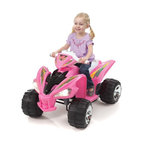 Fun Wheels - Fun Wheels Step-2 Super Quad Battery Powered Riding Toy - Pink - 07PS2 - Shop for Tricycles and Riding Toys from Hayneedle.com! Girl power? Try horsepower. The Fun Wheels Step-2 Super Quad Battery Powered Riding Toy Pink will make your little girl the fastest in the neighborhood. This rechargeable vehicle is loaded with features dual speeds working headlights a real horn pedal control. Powered by a rechargeable 12-volt battery. Playtime: 1-2 hours.