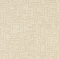 Ivory Geometric Outdoor Indoor Marine Upholstery Fabric By The Yard - This material is an upholstery grade outdoor and indoor fabric. It is stain, water, mildew, bacteria and fading resistant. It is also Scotchgarded for further stain resistance and durability. This material is woven for superior appearance.