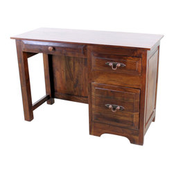 """San Miguel Office Desk - This San Miguel Student Desk is part of our newest lines of furniture. Clean lines, exclusive designs and as always, 100% solid wood construction. The San Miguel line needs no introduction. This line stands alone from the rest with matching pieces available for every room in your home. No veneers are used, only solid planks of wood with a soft hand-rubbed wax. The Student Desk is perfect for a dorm room, small house or an apartment. For larger homes, perhaps this goes well as a guest room office accent, small home office or maybe for a much needed """"office"""" just off the kitchen? Many options with this versatile desk."""