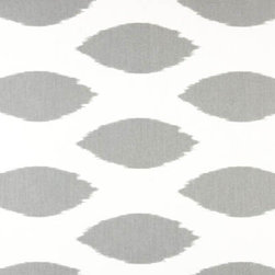 Chipper Storm Printed Drapery Fabric - This fabric is one of my favorites. I love the white background with the simple gray pattern. It would be perfect for drapes.