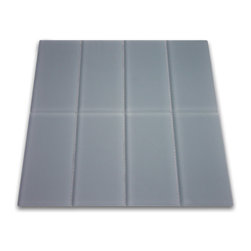 Subway Tile Outlet - Frosted Ocean Glass Subway Tile -