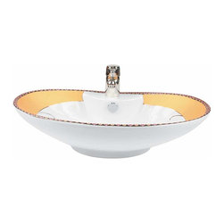 Renovators Supply - Vessel Sinks White Phoenix Vessel Sink - A uniquely shaped vessel sink designed to make hand, face, and tooth washing enjoyable. Vitreous grade A china is durable and beautiful, as well as easy to clean.