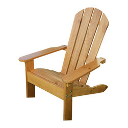 Kidkraft - KidKraft Adirondack All-Wood Chair in Honey - Kidkraft - Kids Adirondack Chairs - 00083 - Based on the classic Adirondack style of furniture established in the mountains of upstate NY in the 1870's the KidKraft Adirondack Chair is the perfect piece for lazy days in the sun with your little one. The sturdy all wood construction and beautiful finish makes this a popular item among kids and parents alike.