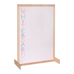 Steffywood - Steffywood Kids School Classroom Two Position Whiteboard Room Divider - Unit has white markerboard on two sides.  Frame is constructed of solid hardwood.  Feet can be mounted for either vertical or horizontal position.