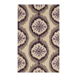 Safavieh - Safavieh Indoor/ Outdoor Four Seasons Beige/ Purple Rug (2'6 x 4') - Safavieh's Four Seasons collection is inspired by timeless contemporary designs crafted with the softest polypropylene available.