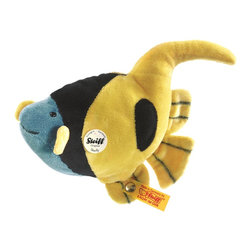 Steiff - Steiff Starly Heniochus Fish - Steiff Starly Heniochus Fish is made of cuddly soft blue and yellow plush. Machine washable. Handmade.