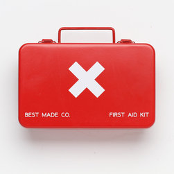 Metal First Aid Kit, Small - OSHA certified and oh-so-stylish, Best Made's first aid box makes sure you have the safety basics covered.