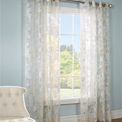 Commonwealth Home Fashions - Commonwealth Chablis Grommet Top Panel - 102605284008 - Shop for Curtains and Drapes from Hayneedle.com! Let some light into your life with the Commonwealth Chablis Grommet Top Panel. This sheer ivory panel with a lovely floral design let just enough sunlight into the room without blinding you. The panel has eight metal grommets at the top to thread through any curtain rod you own.Size Options Available:84L x 52W in.95L x 52W in.About Commonwealth Home Fashions A family business Commonwealth Home Fashions was founded in 1946 by the Levenson brothers. Today the operate facilities in Montreal Qc Canada and in Willsboro NY. Over the years they've built their reputation by producing and importing decorative soft window treatments decorative pillows and throws bed coverings shower curtains and more.