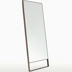 Maxalto - Maxalto Psiche - The Psiche is a set of two mirrors.  The steel frame is available painted in bronze, chrome or nickel.  The panel is made of melamine faced wood.  Mirror is covered with a protective safety film.  Mirror is designed to be leaned against a wall.  Mirror depth measurements include the gap created by the mirror leaning against the wall.  Price includes delivery to the USA.  Manufactured by Maxalto.