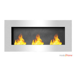 Moda Flame - Moda Flame Hudson Recessed Wall Mounted Bio Ethanol Fireplace - The Hudson Wall Mounted Ethanol Fireplace creates a charisma that is completely irresistible to watch. The fascinating dancing flames on a wall from the Hudson fireplace create a statement to any room. Mount it on a wall or built into one for an alluring appeal. Possibilities and style are endless with the Hudson Recessed Wall Mounted Ethanol Fireplace.