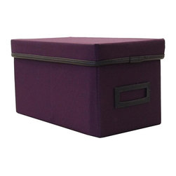 Casual Home - CD Storage Box (Natural) - Color: NaturalStore compact discs. Warranty: 90 days. Made from canvas. No assembly required. 11.12 in. W x 6.13 in. D x 6 in. H (1.06 lbs.)Keep this CD box handy at home or in the office and more in a discrete manner. Coordinate this storage box with other organizing baskets and boxes.