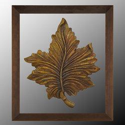 "John Richard Autumn Leaf I - 37""W X 42""H Autumn Leaf I Custom Finish Mounted"