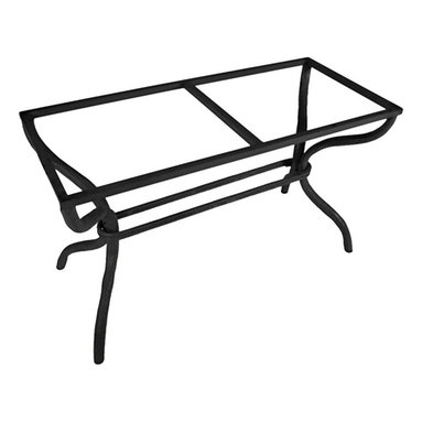 Mathews & Company - Woodland Rectangle Dining Table Base Only - This contemporary Woodland Rectangle Dining Table Base Only allows you to use your own table top such as granite, custom wood, stone, or glass. Pictured in Black finish.