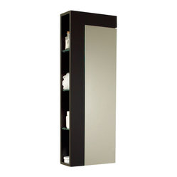 Fresca - Fresca Espresso Bathroom Linen Cabinet w/Large Mirror Door - This elegant storage cabinet with an Espresso finish comes with a large mirror for its cabinet door.