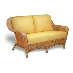 Tortuga Outdoor - Tortuga Outdoor Lexington Wicker Cushion Loveseat - The Lexington Loveseat is made to love with its deep brown color and lasting resin wicker materials. With beautiful curves and gorgeous fabric choices this loveseat will have your heart. This piece has a 2 year warranty and a sturdy aluminum frame. Our flagship wicker furniture collection defined by its elegant traditional design deep seating comfort and rugged all-weather wicker for durability. The frames are very strong and constructed of welded tubular aluminum then powder coated for extra protection. The plush thick seating cushions are made of outdoor weatherproof fabric and fiber filing. The fabric is treated for stain resistance and includes a UV protectant to prevent fading. The ?slips? are replaceable and unzip with ease from the spun fiber cushion. This outdoor wicker furniture collection includes a wicker rocker wicker sofa swivel bar stools and bar table settee glider club chair and settee wicker club chair wicker chaise lounge side table coffee table and a wicker patio dining set. This broad array of options gives you the versatility to create your own custom outdoor wicker patio set suitable for any indoor or outdoor patio set environment.Tortuga Outdoor is the leader in weather-resistant outdoor patio furniture. The rust-proof lightweight reinforced aluminum frames provide excellent stability and versatility for dining or lounge requirements suitable for indoor OR outdoor use. Their resin synthetic wicker is hand-woven and provides comfortable support with a stylish look. Unlike natural rattan or wood it will not splinter rot or decay. All of the Tortuga Outdoor furniture selection is classic elegantly designed resin wicker furniture for every occasion. Whether it be a casual get-together or a formal evening dinner Tortuga Outdoor provides the perfect setting! Features include Outdoor all weather wicker -unlike natural wicker our all weather wicker is is stain water uv crack and spl