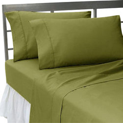 SCALA - 600TC Solid Moss Queen Flat Sheet & 2 Pillowcases - Redefine your everyday elegance with these luxuriously super soft Flat Sheet . This is 100% Egyptian Cotton Superior quality Flat Sheet that are truly worthy of a classy and elegant look.