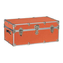 Dorm Trunk, Orange - I've taken my love of all things orange rather seriously in my daughter's room, which is almost smothered in the hue. I'm certain she would love this foot locker for additional storage.