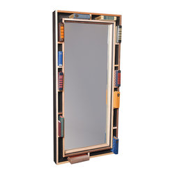 Shiner International - Shiner International 32 x 68 Natural Finish Floor Mirror - A modern twist on a medicine cabinet this rustic looking mirror is great for storage and ambiance. Shiner is a well thought out well built and well received line of home goods with a wide spectrum of product. Shiner is redefining the future by up-cycling the past through it unique approach to manufacturing and material sourcing. Modern Eco-Friendly Furnishings made in Florida USA Joe Manus remembers his first black eye. He was 7 he deserved it and he wore it like a badge of honor. Ever since the shiner has become his personal emblem for something tough dark and proudly damaged. Now Joe applies the manufacturing techniques and brutal aesthetic that earned his reputation for high-end boutiques and nightclubs in Atlanta to his first collection of modern eco-friendly furnishings. It's dirty sexy clever and dark. Of course he named it Shiner. What do they mean by eco-friendly? All materials are selected with environmental responsibility in mind. Steel is 85% recycled. Cardboard is 100% recycled. Plywood comes from responsibly farmed new growth timbers. Hardwoods come from drop cuts from board manufacturing that were destined for the landfill. All goods are cut using CNC technology which means maximum yield because of close nesting of parts on a panel low labor overhead and low energy equation overall. All leftover materials from cut panels go to fuel the timber kiln that dries their hardwoods or to be used in the production of biodiesel. All products are made in the USA. Specifications Material: Ply wood Hard wood Mirror.