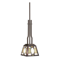 TIFFANY - TIFFANY Denman Tiffany Casual Mini Pendant Light X-12356 - With clean modern lines and classic Tiffany styling, this Kichler Lighting casual Tiffany mini pendant light features warm neutral hues throughout the art glass shade, paired with an Olde Bronze finish.