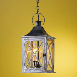 Hamptons Wooden Lantern - Large -