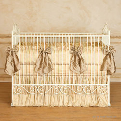 Casablanca Iron Crib in Antique White by Bratt Decor - Casablanca Crib in Antique White by Bratt Decor