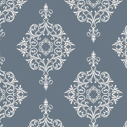 """Diamond Damask Wallpaper 8.5'feet - """"Swag Paper - Empowering the Do-It-Yourselfer:"""