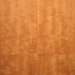 Block Mottle Heavy Figure Quartered Makore Veneer. - Block Mottled Makore veneer is the same color as regular Makore, deep reddish brown. Block Mottled Makore veneer has a variegated or block pattern figure which gives a dramatic effect. Available in a variety of backers and sizes.
