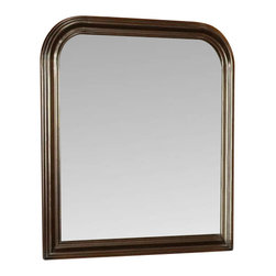 "Coaster - Mirror (Cappuccino) By Coaster - This elegant mirror will be a wonderful addition to your traditional master bedroom. The piece has a softly curved frame in warm wood. Create depth and brightness in your space with this reflective mirror. Place the mirror above the matching dresser for a complete ensemble in your calming bedroom. Available in both a warm Cherry finish and deep Cappuccino finish, this piece will complement your decor. Features: Deep Cappuccino finish Constructed from wood veneers and rubber wood solids Traditional style Antique style metal bail handles. Smooth tops with shapely molded edges Specifications: Overall product dimensions: 36""W x 1""D x 40""H."