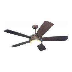 Joshua Marshal - One Light Bronze Ceiling Fan - One Light Bronze Ceiling Fan