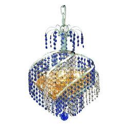 Elegant Lighting - Elegant Lighting 8053D14C Spiral 3-Light, Single-Tier Crystal Chandelier, Finish - Elegant Lighting 8053D14C Spiral 3-Light, Single-Tier Crystal Chandelier, Finished in Chrome with Royal Cut CrystalsElegant Lighting 8053D14C Features: