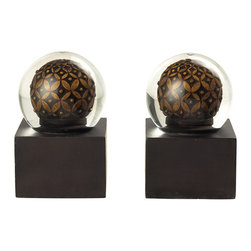 Sterling Industries - Pair French Roast Book Ends - Pair French roast bookends by Sterling Industries