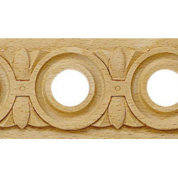 """Inviting Home - Salisbury Carved Wood Panel Molding - wood panel molding 2-1/4""""H x 1/4""""P x 8'00""""L sold in 8 foot length 4 piece minimum order required Wood panel molding specifications: Outstanding quality molding profile carved from high grade kiln dried solid European beech wood. High relief decorative design is machine carved. Wood molding is sold unfinished and can be easily stained painted or glazed. The installation of the wood molding should be treated the same manner as you would treat any wood molding: all molding should be kept in a clean and dry environment away from excessive moisture. acclimate wooden moldings for 5-7 days. when installing wood moldings it is recommended to nail molding securely to studs; pre-drill when necessary and glue all mitered corners for maximum support."""