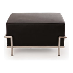 Kardiel - Kardiel Le Corbusier Style LC3 Ottoman, Black Standard Leather - Kardiel offers the highest quality Le Corbusier LC3 Grande' reproduction on the market. We specialize in this series and understand fully the intricacies of the original design. From the supple Genuine leather to the plump generously filled and wrapped cushions, our full list of features means you don't have to settle for an inferior reproduction. You also don't have to pay more. With Kardiel's signature reproduction, you can have your own version of the Le Corbusier LC3 Grande series. Compare this reproduction anywhere for its highest standard of exacting detail. The accuracy of this LC3 Grande reproduction is second to none.