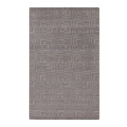 Surya - Surya Etching Rug X-118-3194CTE - The Etching Collection offers a variety of solid colors with a hard twist texture. Each rug has a pattern of daisy like flowers dancing across it's borders. The rugs in this collection will add a touch of whimsy to your room. Hand crafted in India from 1% wool.
