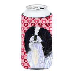 Caroline's Treasures - Japanese Chin Hearts Love and Valentine's Day Portrait Tall Boy Koozie Hugger - Japanese Chin Hearts Love and Valentine's Day Portrait Tall Boy Koozie Hugger Fits 22 oz. to 24 oz. cans or pint bottles. Great collapsible koozie for Energy Drinks or large Iced Tea beverages. Great to keep track of your beverage and add a bit of flair to a gathering. Match with one of the insulated coolers or coasters for a nice gift pack. Wash the hugger in your dishwasher or clothes washer. Design will not come off.