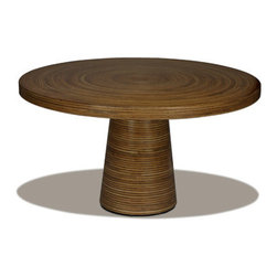 """Oggetti - Showtime Dining Table - Features: -Collection: Showtime.-Distressed: No.-Powder Coated Finish: No.-Gloss Finish: No.-Top Material: Split rattan & coconut twig veneer.-Base Material: Split rattan & coconut twig veneer.-Solid Wood Construction: No.-Reclaimed Wood: Yes.-Number of Items Included: 1.-Non-Toxic: Yes.-Water Resistant or Waterproof: Coating resists water.-UV Resistant: No.-Heat Resistant: No.-Scratch Resistant: No.-Glass Component: No.-Leaf Included: No.-Seating Capacity (Size: 60""""): 8.-Wine Storage: No.-Shelving Included: No.-Drawers Included: No.-Stemware Holder: No.-Table Base Type: Pedestal.-Outdoor Use: No.-Swatch Available: No.-Commercial Use: Yes.-Recycled Content: No.-Eco-Friendly: Yes.-Product Care: Wipe with damp cloth.Specifications: -FSC Certified: No.-ISTA 3A Certified: No.-General Conformity Certified: No.-Green Guard Certified: No.-ISO 9000 Certified: No.-ISO 14000 Certified: No.Dimensions: -Overall Height - Top to Bottom (Size: 60""""): 29"""".-Overall Width - Side to Side (Size: 60""""): 60"""".-Overall Depth - Front to Back (Size: 60""""): 60"""".Assembly: -Assembly Required: Yes.-Tools Needed: Screwdriver.-Additional Parts Required: No.Warranty: -Product Warranty: 1 year."""