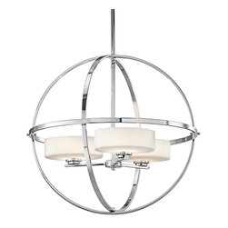 Kichler - Kichler Olsay 3-Light Chrome Up Chandelier - 42505CH - This 3-Light Up Chandelier is part of the Olsay Collection and has a Chrome Finish.