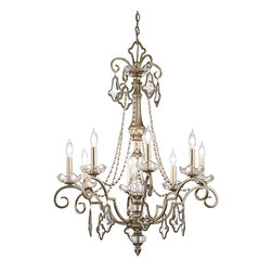 Kichler - Kichler Gracie 1 Tier Chandelier in Sunrise Mist - Shown in picture: Kichler Chandelier 8Lt in Sunrise Mist