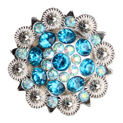 DaRosa Creations - Crystal Drawer Knob with Blue and Iridescence Crystals - Crystal Drawer Knob with Blue and Iridescence Crystals