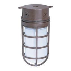"""Nuvo Lighting - Nuvo Lighting 76/625 Single Light 10"""" 100W Industrial Style Surface Mount Fixtur - Nuvo Lighting 76/625 Single Light 10"""" 100W Industrial Style Surface Mount Fixture with Frosted Glass Shade, in Old Bronze FinishNuvo Lighting 76/625 Features:"""
