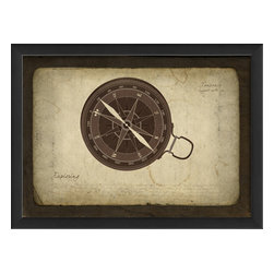 The Artwork Factory - 'Compass' Print - You'll never lose your way when you surround yourself with strong and meaningful imagery. Hang this museum quality, framed print in your living room as a visual reminder of your own true north. It arrives ready to display so get your nail and hammer ready.